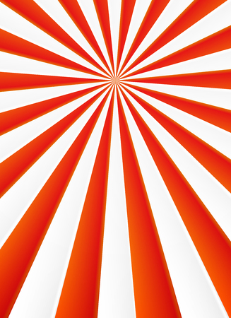 red shape: Red and white rays vector abstract circus poster background Illustration