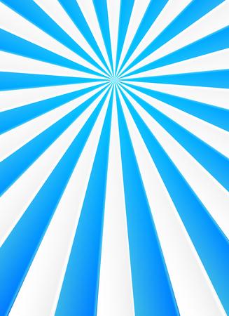 青と白の光線ベクトル抽象サーカス ポスターの背景