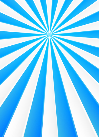 sunbeam: Blue and white rays vector abstract circus poster background Illustration