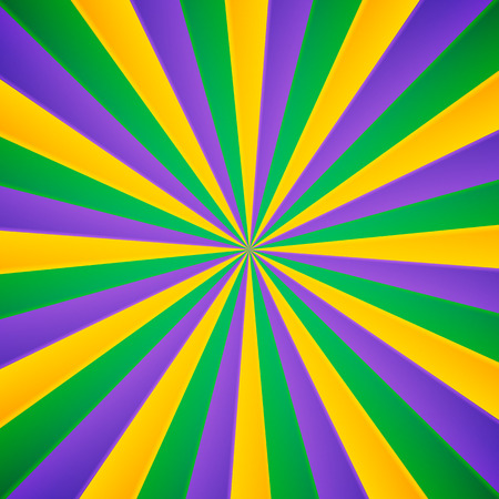 venezia: Green, yellow and violet rays vector carnival background Illustration