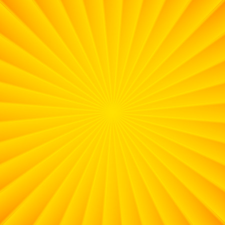 carnevale: Yellow rays circle vector carnival squared background Illustration