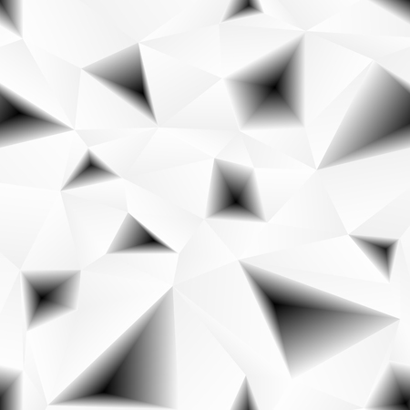 background kaleidoscope: Vector triangular holes abstract grayscale seamless pattern