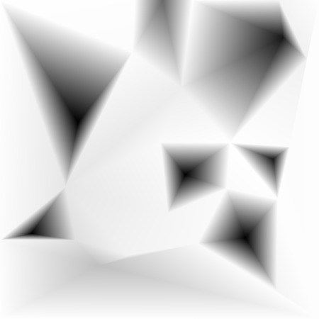holes: Vector abstract triangular holes surface monochrome background Illustration