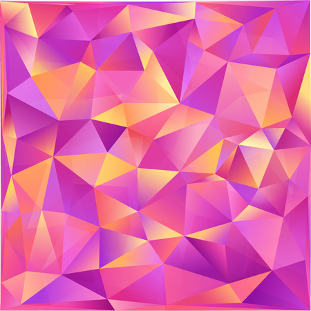 abstract pink: Pink and orange triangles abstract vector background Illustration