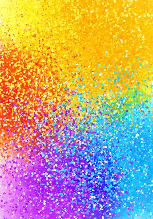 Helle gespritzte Farbe Regenbogenfarben Grafik Abstract vertikalen Hintergrund Standard-Bild - 52075592