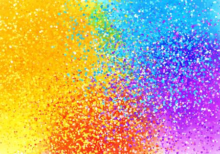 sprayed: Bright sprayed paint rainbow colors vector abstract horizontal background Illustration