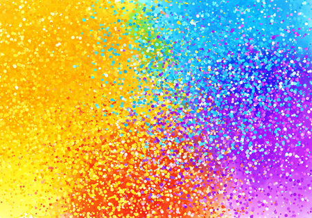 Bright sprayed paint rainbow colors vector abstract horizontal background Illustration