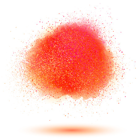 Red powder vector cloud isolated on white background