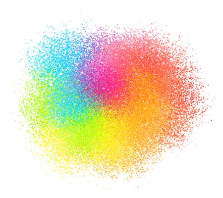 明るいネオン エフトイズ塗料粉ベクトル砂のテクスチャ クラウド