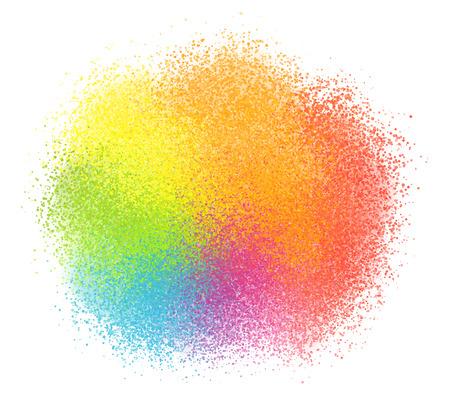 powder: Bright rainbow colors vector pastel paint powder cloud Illustration