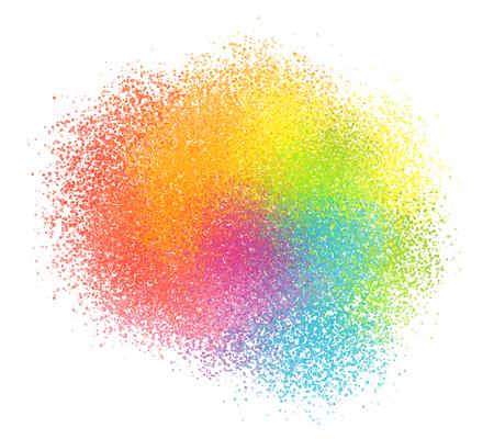 tibet: Bright rainbow colors vector pastel paint powder cloud Illustration