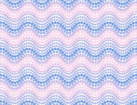 dot pattern: Pink trendy colors dotted mosaic waves vector seamless pattern Illustration