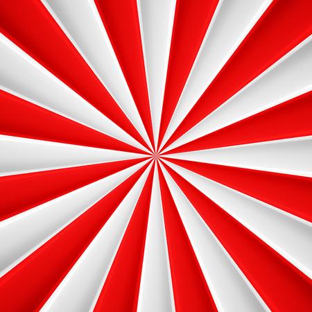 Rode en witte abstracte stralen cirkel vector poster achtergrond Stockfoto - 57464823