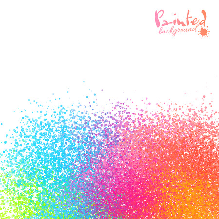 sprayed: Vivid rainbow colors vector sprayed paint abstract background