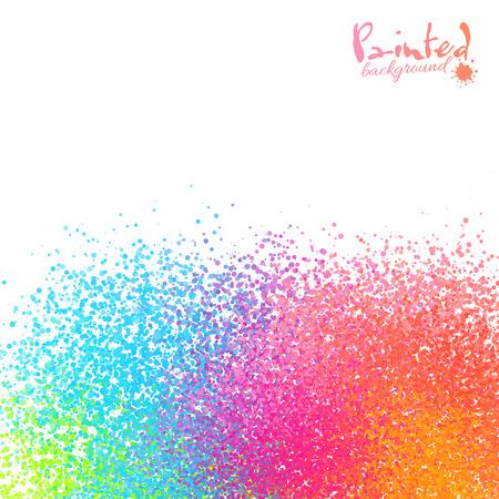 sprayed: Vivid rainbow colors vector sprayed paint abstract background