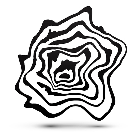 black shadow: Black and white marble style abstract vector shape with shadow