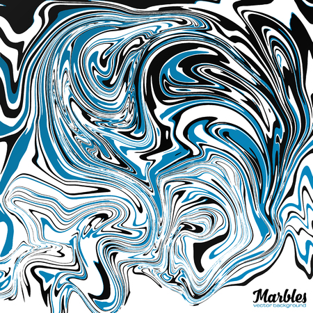 black and blue: Black, blue and white marble watercolor style abstract vector background Illustration