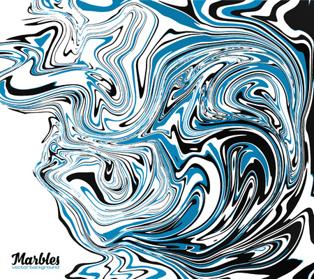 marbled: Black, blue and white marble watercolor style abstract vector background Illustration