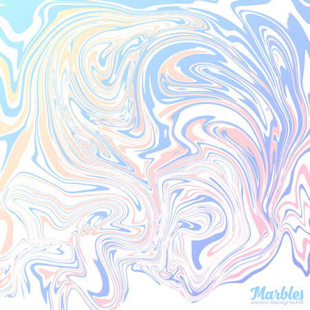 Pink and blue trendy colors marble style abstract vector background Ilustrace