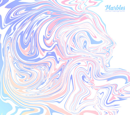 Pink and blue trendy colors marble style abstract vector background