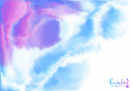 pastel color: Vector purple and blue background in watercolor style