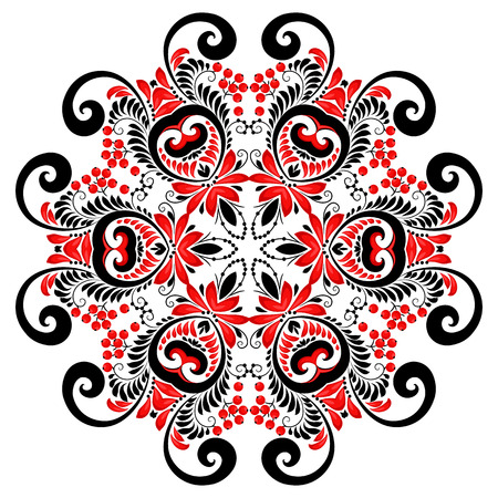 Image result for mandala red and black