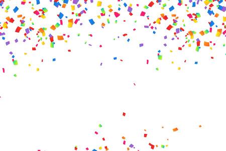 Bright colorful vector confetti background