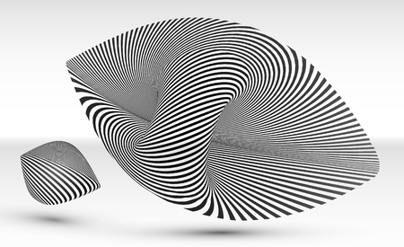 Abstract optical illusion vector elements Illustration