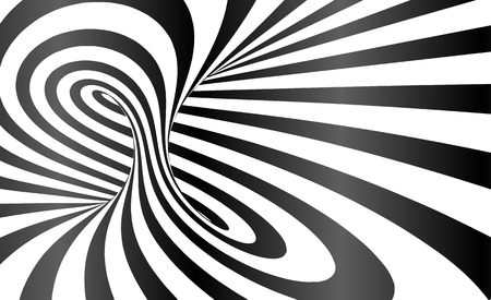 Vector twisted stripes optical illusion abstract background Stock Vector - 79002316