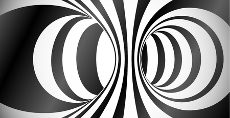 Vector circles surface optical illusion abstract background Ilustração