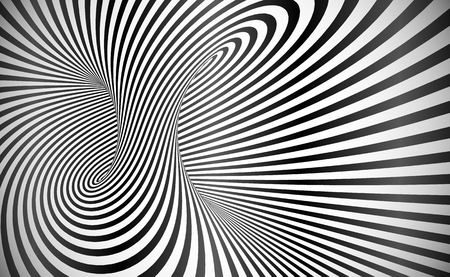 Vector twisted stripes optical illusion abstract background