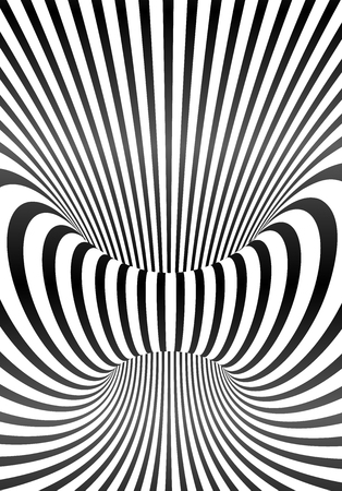 Vector optical illusion lines vertical poster background Illustration