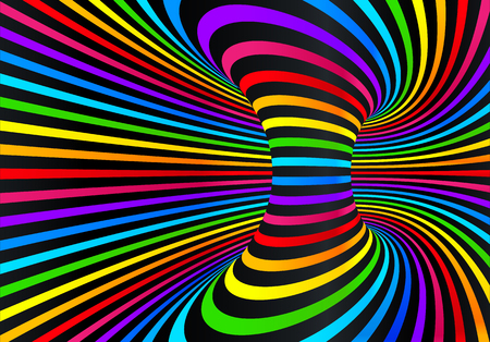 Dark neon rainbow colors vector abstract disco background