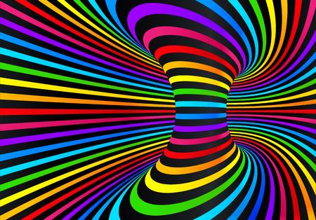 Couleurs arc-en-ciel néon foncé vector abstrait disco background