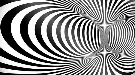 Black and white torus optical illusion