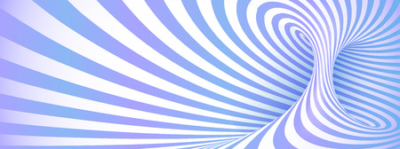 Trendy pastel blue and violet colors vector optical illusion swirl Stock Illustratie