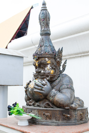 Giant ancient statues found in the temple indicates faith and religious beliefs.