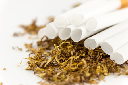 smuggling: filter cigarettes with tobacco