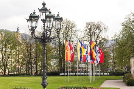 flagpoles: flags Stock Photo