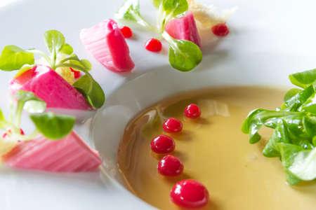 menue: appetizer gastronomy Stock Photo
