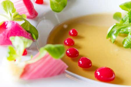 menue: rhubarb appetizer