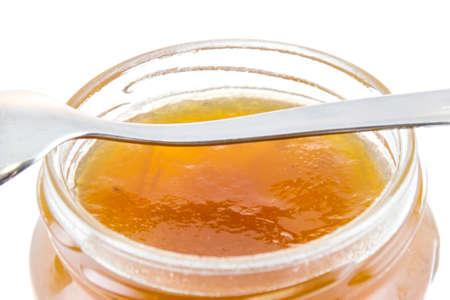 jam jar: jam jar with loeffel