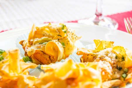 menue: pasta Stock Photo
