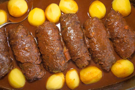 butcher s shop: roulades with potatoes