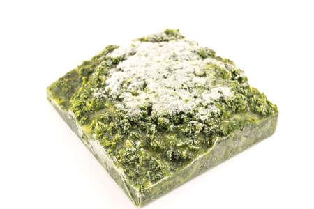 alimentos congelados: espinacas alimentos congelados Foto de archivo