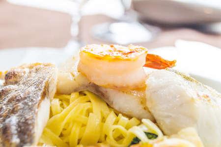 menue: fish dish