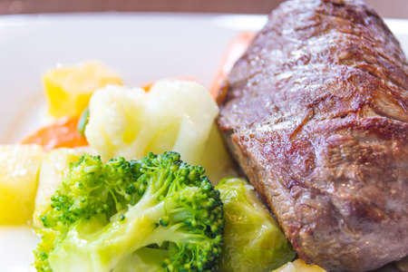 menue: filet with vegetable