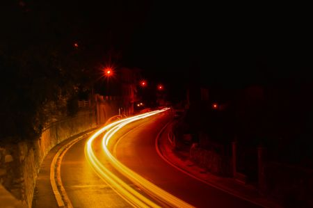trafficabstract: light of evening traffic-abstract