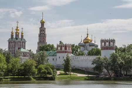 convent: Novodevichy Convent, a panoramic view of summer