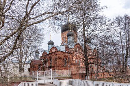 Vvedensky Island Monastery, Cover. Vladimir region. Spring